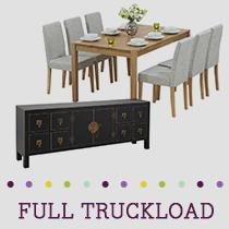 Truckload of Kitchen, Dining & Bedroom Furniture, Lighting & More, 394 Pieces, Customer Returns, Ext. Sale Price €31,234, Kassel, DE
