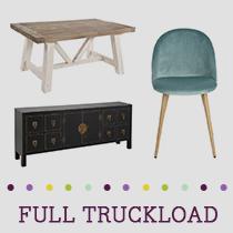 Truckload of Kitchen, Dining & Bedroom Furniture, Decorative Accents & More, 452 Pieces, Customer Returns, Ext. Sale Price €30,603, Kassel, DE