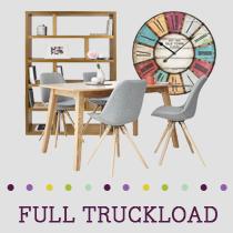 Truckload of Kitchen, Dining & Bedroom Furniture, Lighting, Upholstery & More, 282 Pieces, Customer Returns, Ext. Sale Price €31,296, Kassel, DE