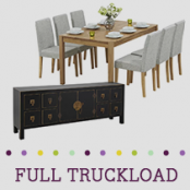 Truckload of Kitchen, Dining & Bedroom Furniture, Lighting & More, 394 Pieces, Customer Returns, Ext. Sale Price €31,234, Kassel, DE
